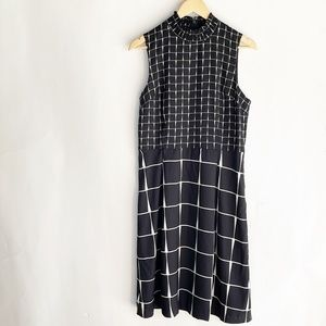 Who What Wear Dress Size S Small Black White Sleev